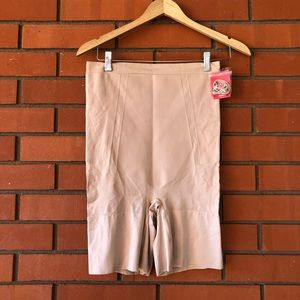 NWT SPANX Nude High-Waisted Mid-Thigh Shorts